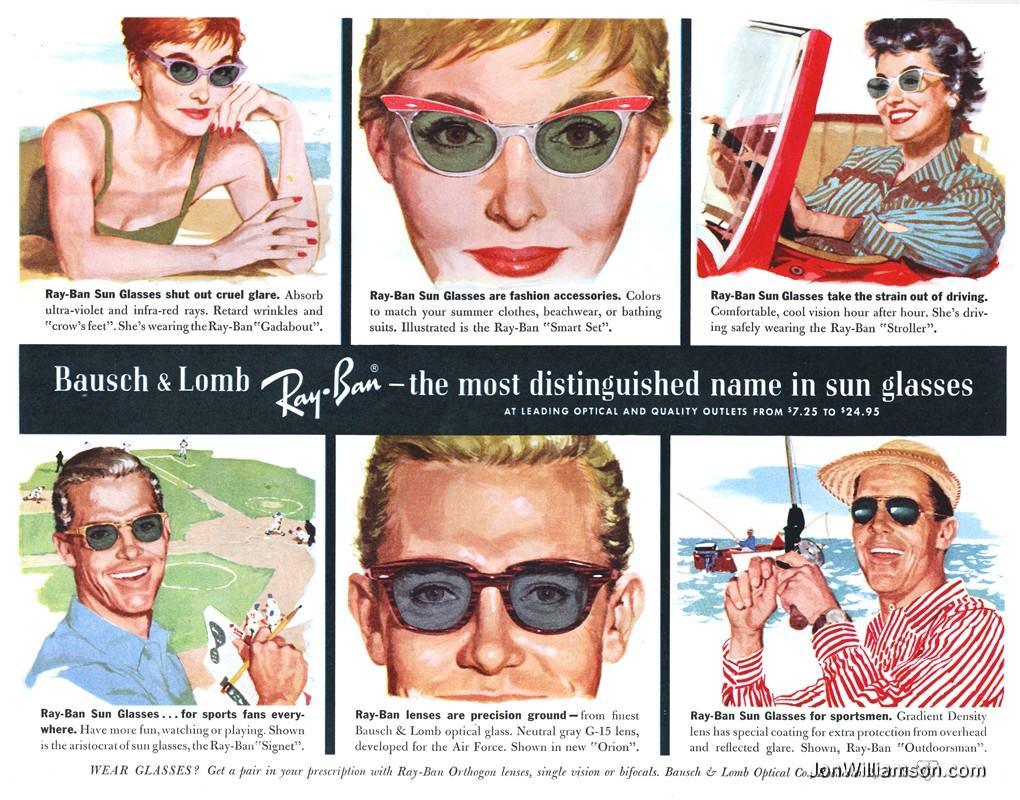 Bausch-Lomb-Ray-Ban-1958 Lentes Vintage Mexico